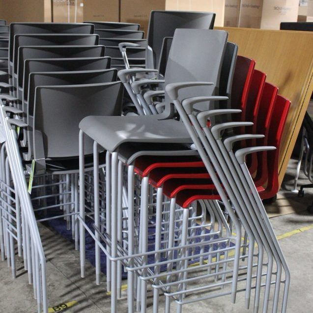 Stack of Office Chairs Available for Rental
